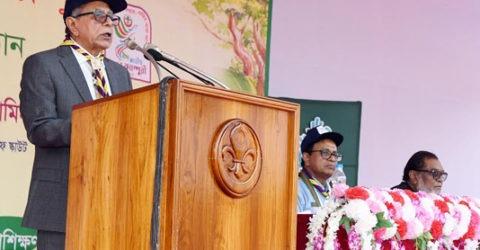 দেশ সেবা ও মানব কল্যাণে স্কাউটিংকে কাজে লাগানোর আহ্বান রাষ্ট্রপতির