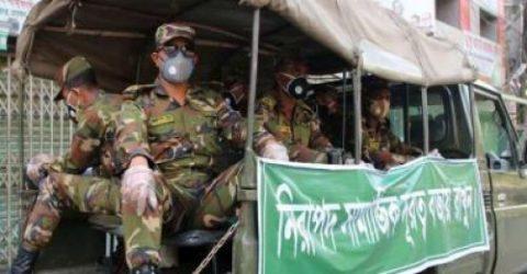 রেড জোনগুলোতে টহল জোরদার করছে সেনাবাহিনী